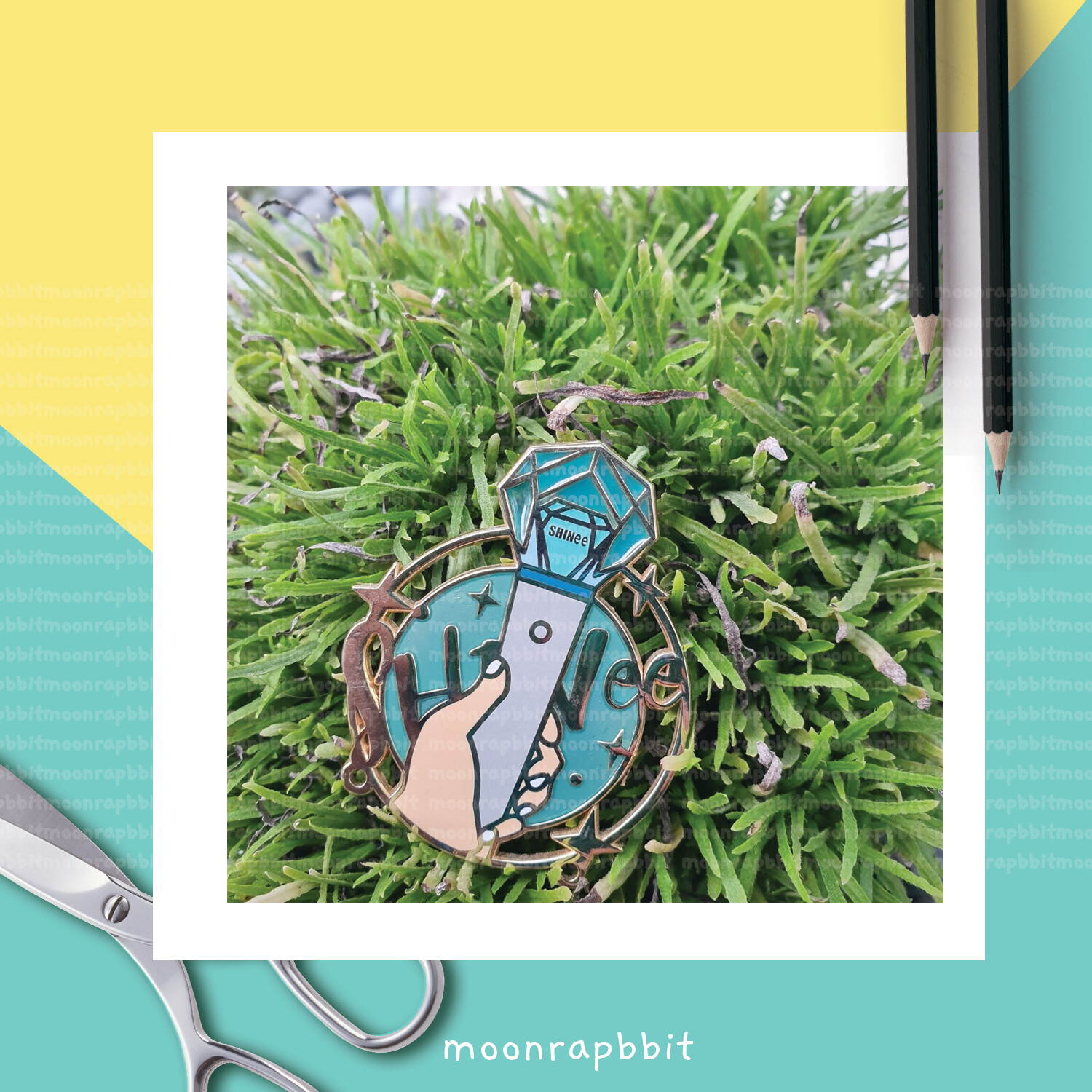 Enamel Pin: Diamond Sky