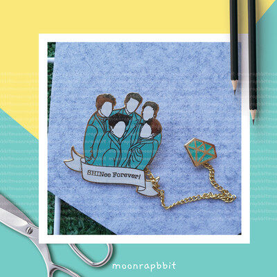 Enamel Pin: 4ever SHINee