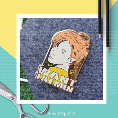 Enamel Pin: WANT TAEMIN