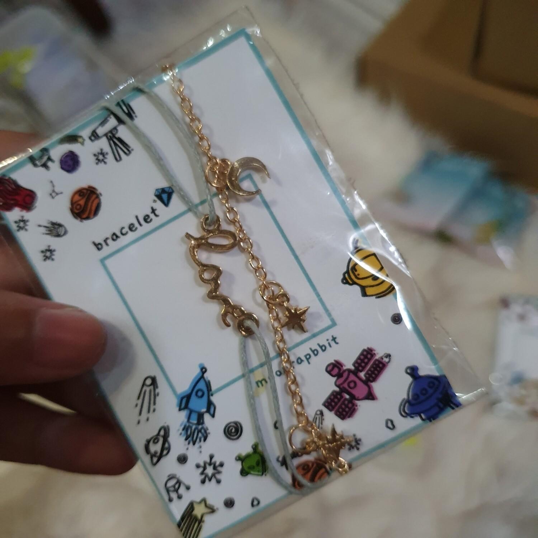 Bracelet : 2 Set Love and Star