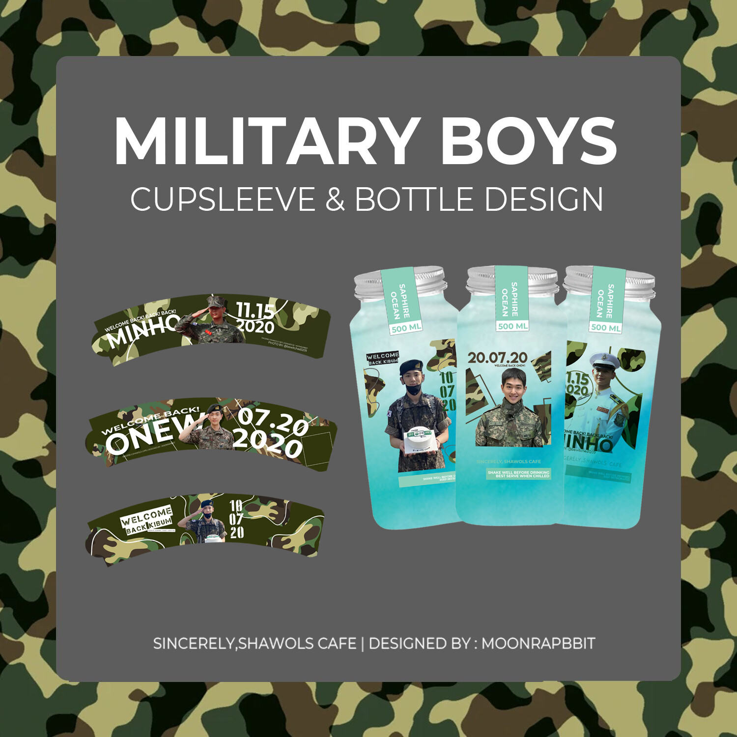 MILITARY BOYS WELCOME BACK CUPSLEEVE KIT