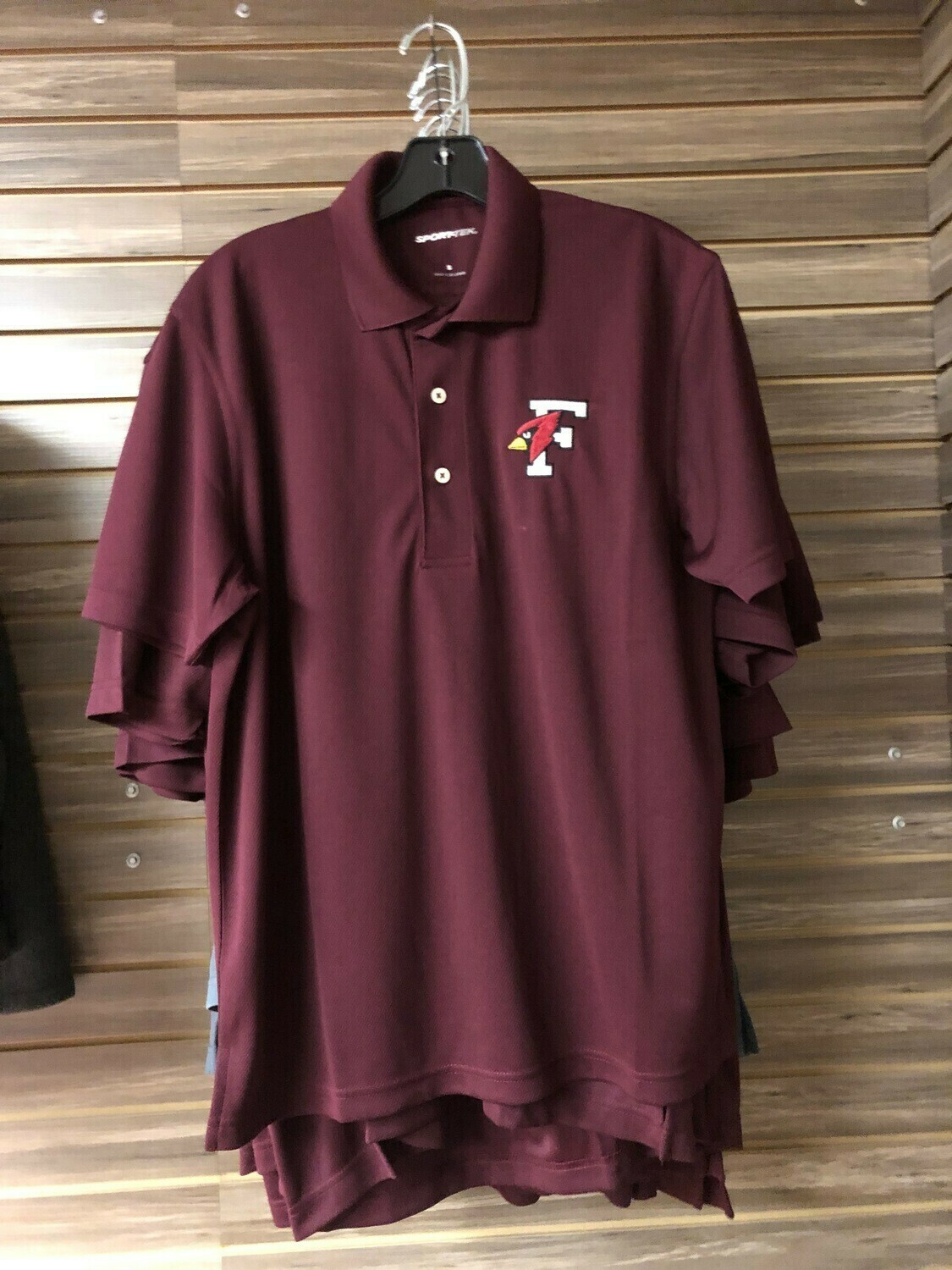 Maroon Men's Polo Sport Tec (Medium)