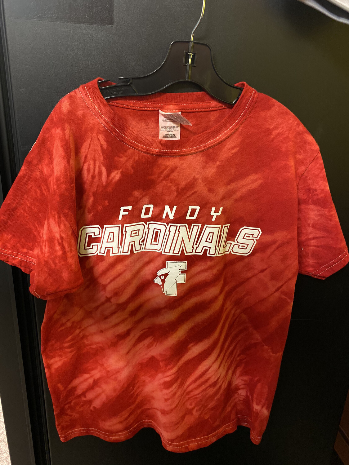 Red Tie-Die Fondy Cardinal T-Shirt Youth Small