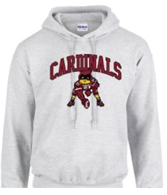 Youth Gildan Hoodie Football Cardinal