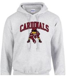 Gildan Hoodie Football Cardinal (Large)