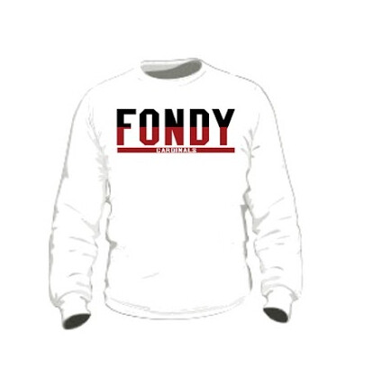 Youth White FONDY Long Sleeve