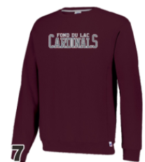 Russell Maroon Cardinals Crewneck
