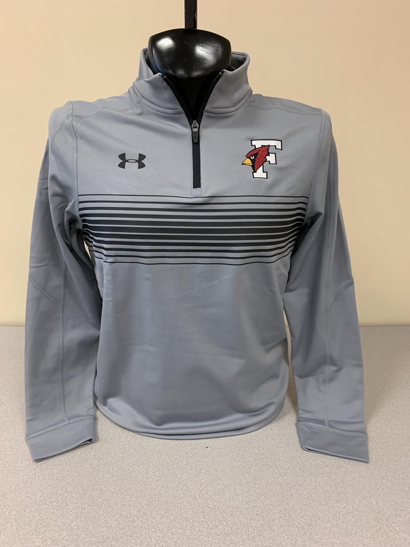 UA Men's Qualifier 1/4 Zip (X-Large, Grey)