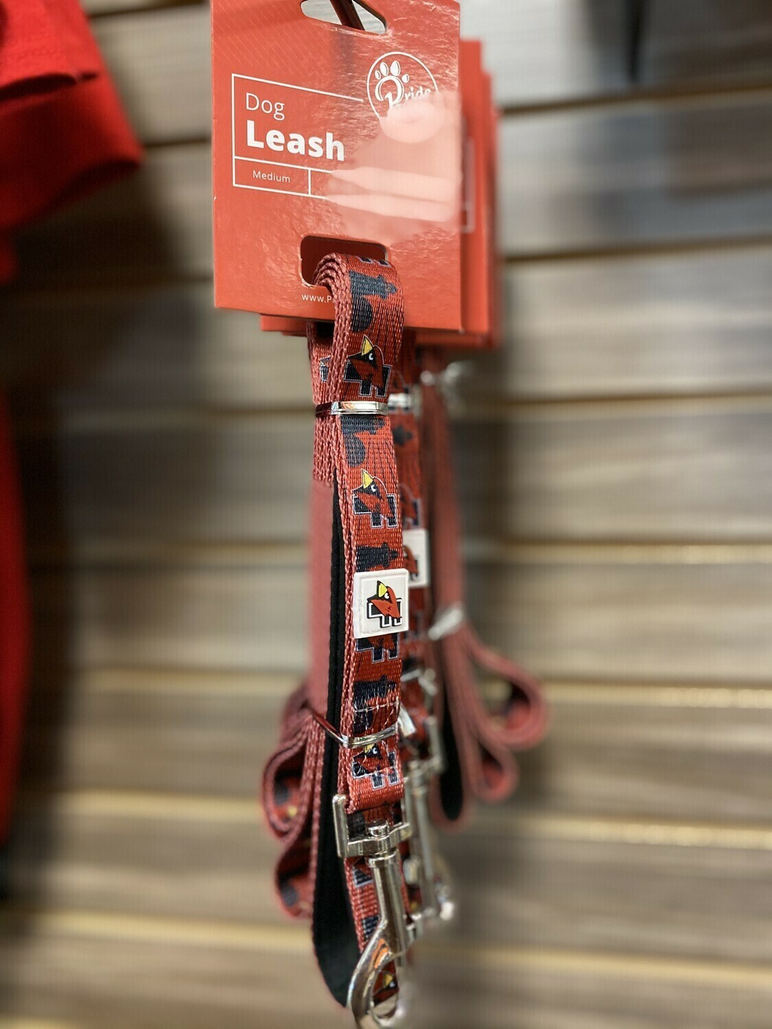 Pride Bites Red Dog Leash (Medium)