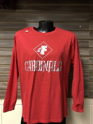 Anvil Red Womens LS (Small)