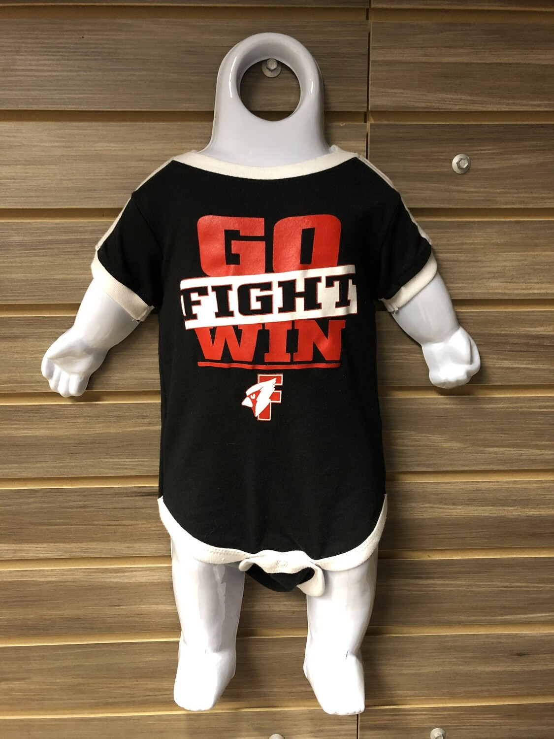 Black Toddler Go Fight Win T-Shirt (3T)