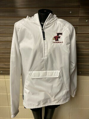 Charles River White Fondy Wind Breaker (Medium)