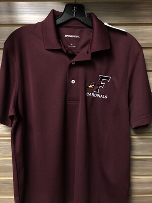 Sport-Tek Maroon V Polo (Medium)