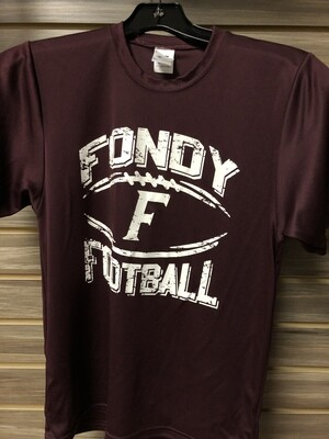 Maroon Youth Football T-Shirt (Youth Large)