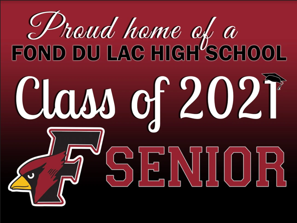 """Proud Home of a FHS Class of 2021 Senior"" Yard Sign"