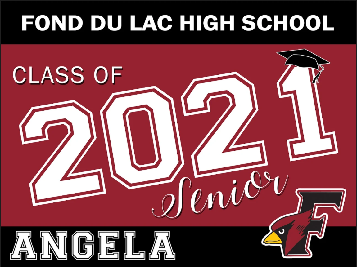 "Customized ""Class of 2021 Senior"" Yard Sign"