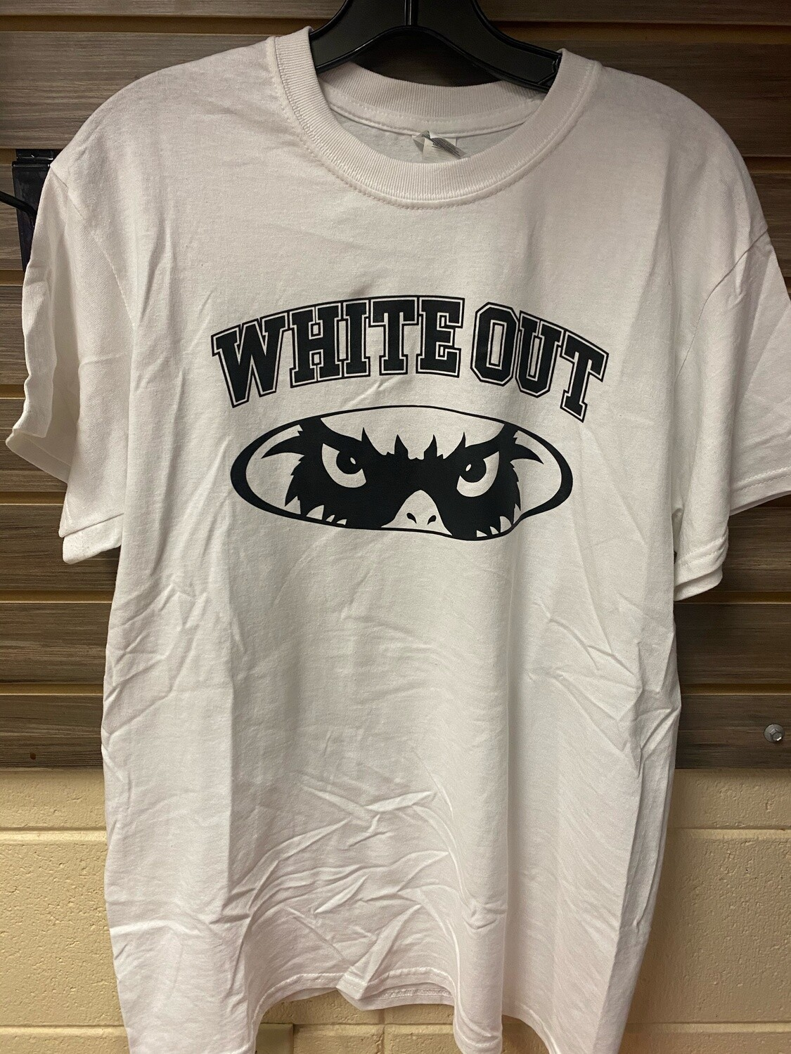 White Out with Cardinal Eyes (2X-Large)