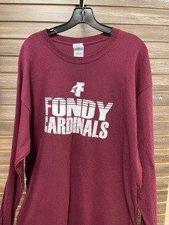 Maroon FONDY Cardinals Long Sleeve (X-Large)