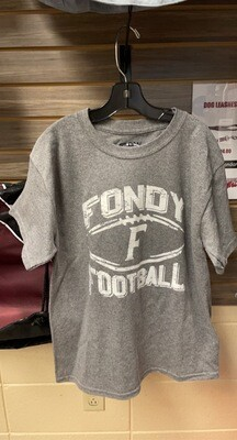 Youth Grey Football T-Shirt (Youth Large)