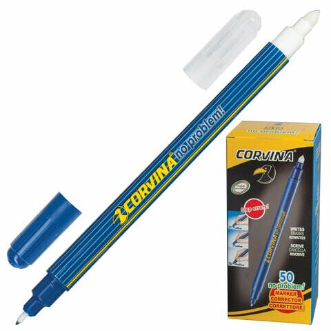 """Ручка стираемая капиллярная 0.5мм CORVINA """"No Problem"""" 41425 синяя"""