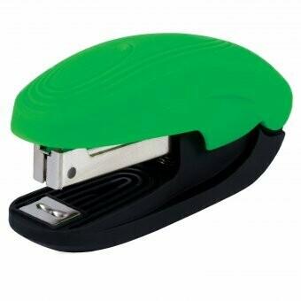"""Степлер № 10 BRAUBERG """"Komfort"""" SOFT TOUCH, с антистеплером 226840 зеленый"""