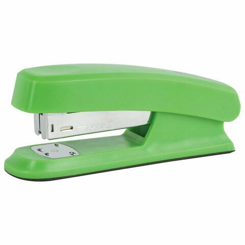 """Степлер № 24/6 BRAUBERG """"Standard"""" 226853 неон зеленый"""