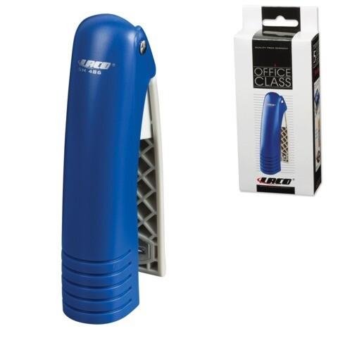 Степлер №24/6, 26/6 LACO до 20л вертикальный SH486 пластик синий