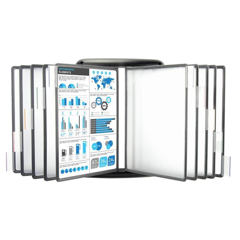 Демосистема настенная 10 панелей А4 Mega Office FDS012