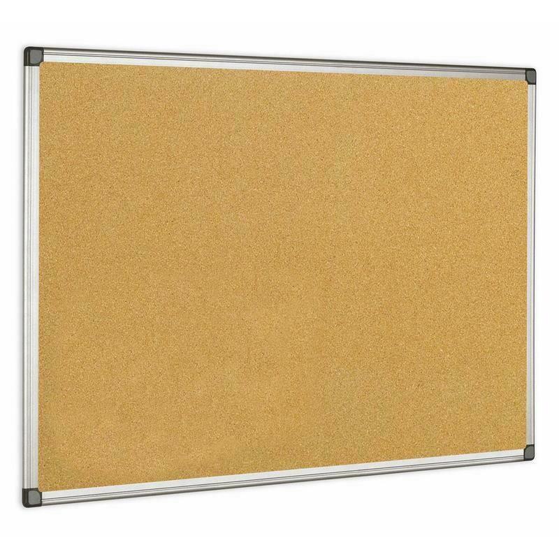 Доска пробковая 60*90см BI-OFFICE алюминиевая рамка 31178
