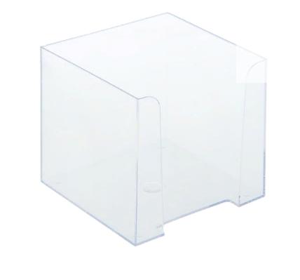Подставка для бумажного блока 9*9*9см СТАММ пластик ПЛ41 прозрачная