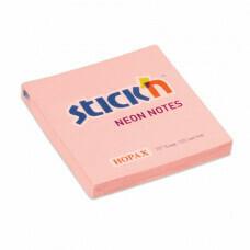 Блок-стикер 76*76 100л HOPAX 21746 пастель розовый