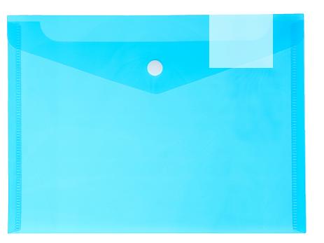 Папка-конверт с кнопкой А5 180 мкм CALLIGRATA 3258451 синий