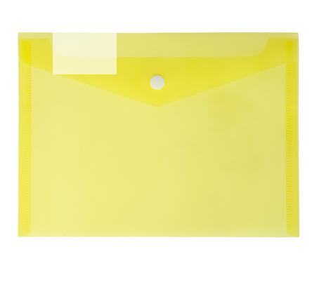 Папка-конверт с кнопкой А5 180 мкм CALLIGRATA 3258453 желтая