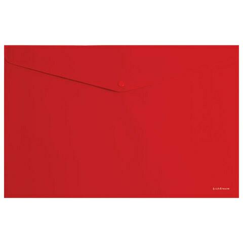 Папка-конверт с кнопкой А5+ 180 мкм HATBER 10734, 10732 ассорти