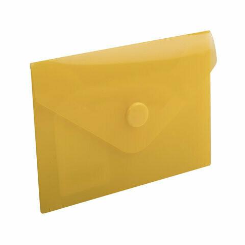 Папка-конверт с кнопкой А7 74*105 BRAUBERG 227324 желтый