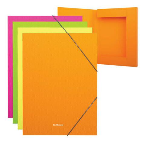 "Папка-короб на резинках А4 ERICH KRAUSE ""Glance Neon"" пластик EK43056"
