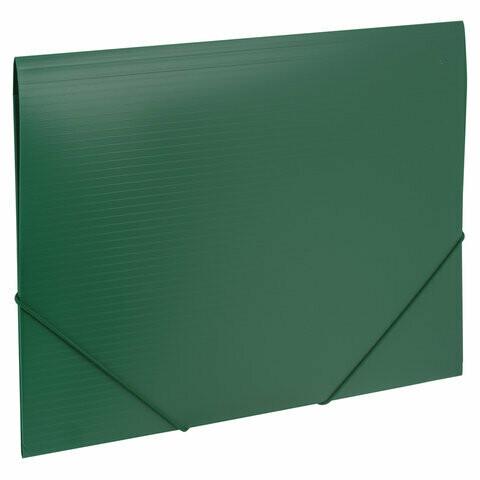 "Папка на резинках А4 BRAUBERG ""Contract"" пластик 221799 зеленая"