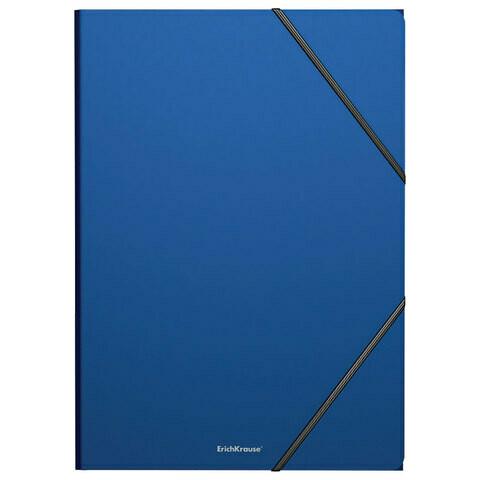 """Папка на резинках А4 ERICH KRAUSE """"Classic"""" 400мкм пластик EK47190 синяя"""