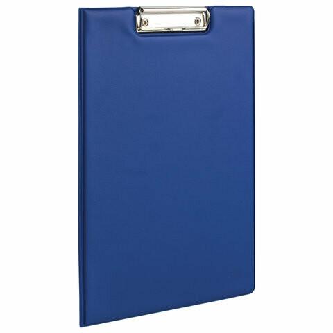 Планшет с прижимом и крышкой А4 BRAUBERG 221489 синий