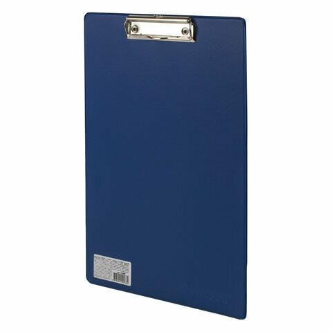 Планшет с прижимом А4 ОФИСМАГ картон/ПВХ 225987 синий