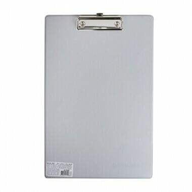 Планшет с прижимом А4 ОФИСМАГ картон/ПВХ 225992 серый