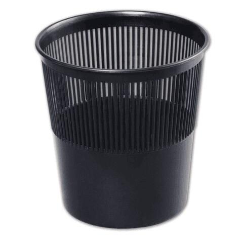 Корзина для бумаг 9л СТАММ сетка КР21 черная