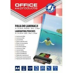 Пленка для ламинирования А4 100 мк OFFICE PRODUCT 20325425-90