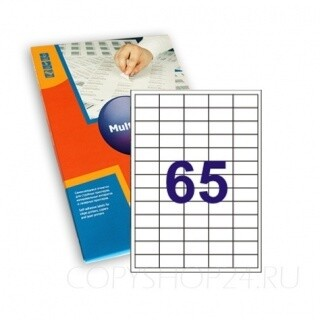 Бумага самоклеющаяся А4 (38*21,2мм) 100л для принтера Q-Connect KF15386