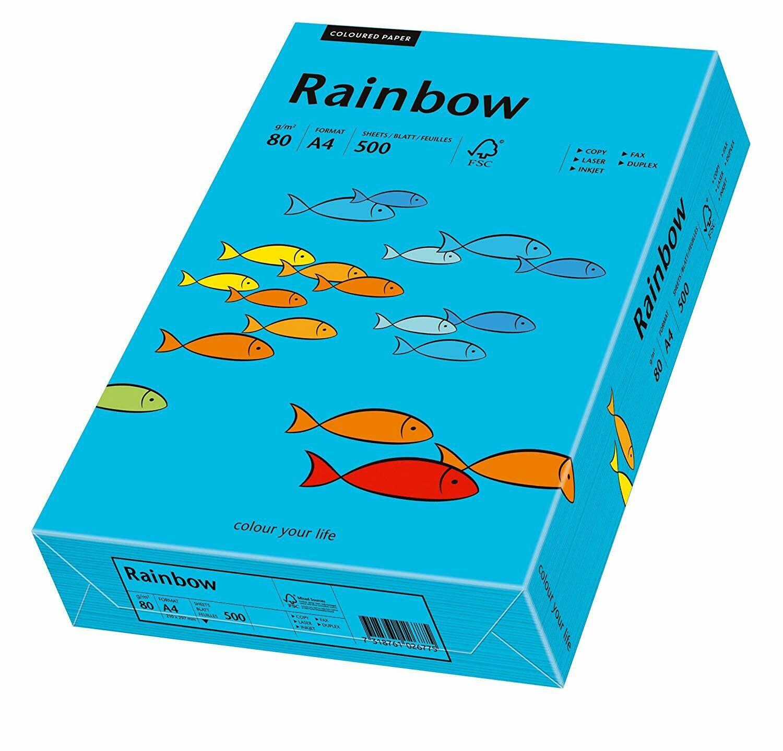 Бумага для принтера, копир.аппарата Rainbow A4 синий интенсив (88)
