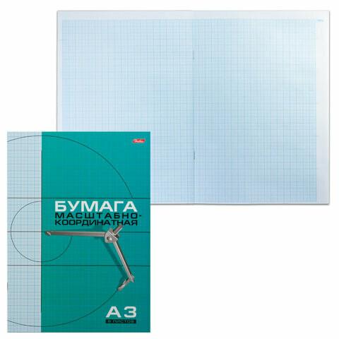 Бумага миллиметровая А3 8л HATBER 02285