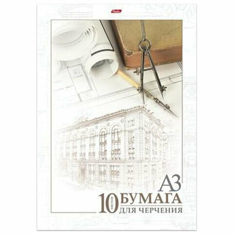 """Папка для черчения А3 10л 190г/м без рамки HATBER """"Архитектура"""" 127130"""