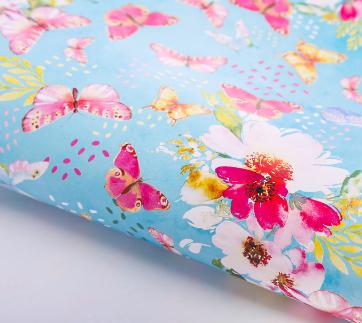 """Бумага подарочная 70*100см """"Бабочки в саду"""" 2739448"""