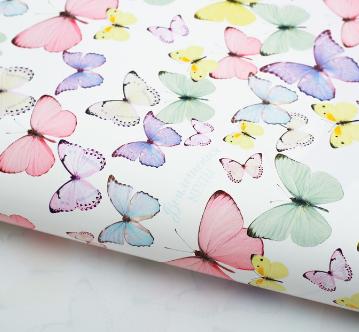 """Бумага подарочная 70*100см """"Светлые бабочки"""" 2773563"""
