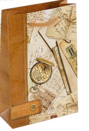 """Пакет подарочный 17,5*11,5*5 """"История путешествий"""" 1686054"""